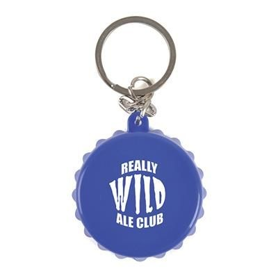 BOTTLE LID KEYRING in Blue.