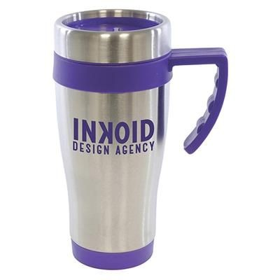 OREGON STAINLESS STEEL METAL TRAVE MUG in Purple.