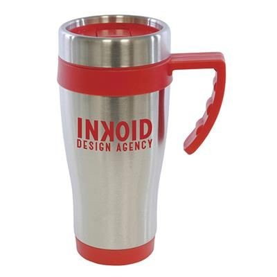 OREGON STAINLESS STEEL METAL TRAVE MUG in Red.