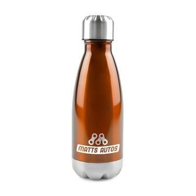 ASHFORD STAINLESS STEEL METAL DRINK BOTTLE in Amber.