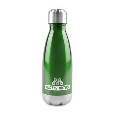 ASHFORD STAINLESS STEEL METAL DRINK BOTTLE in Green.