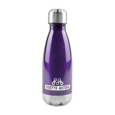 ASHFORD STAINLESS STEEL METAL DRINK BOTTLE in Purple.
