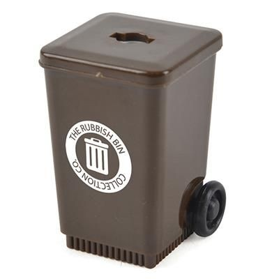 WHEELIE BIN in Brown.