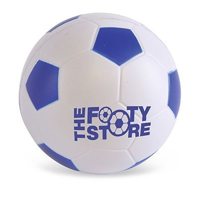 FOOTBALL STRESS BALL in Blue & White.