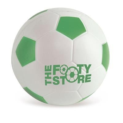 FOOTBALL STRESS BALL in Green & White.