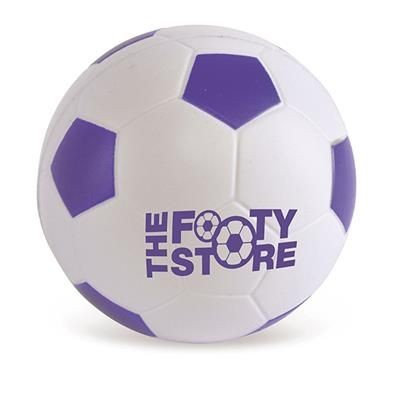 FOOTBALL STRESS BALL in Purple & White.