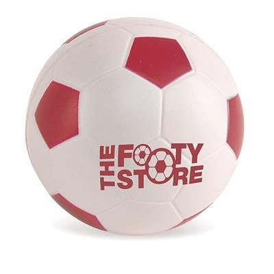 FOOTBALL STRESS BALL in Red & White.