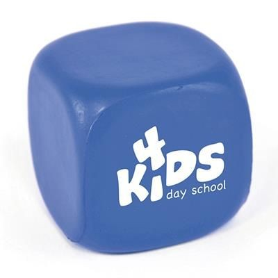 CUBE STRESS TOY in Blue.