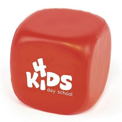 CUBE STRESS TOY in Red.