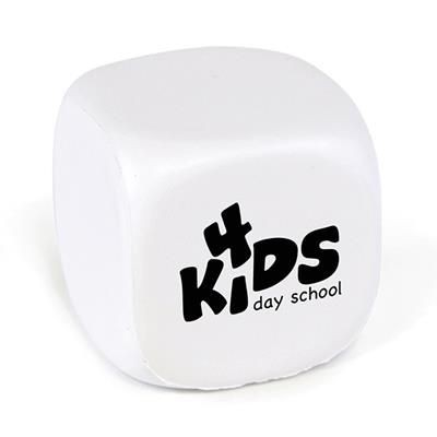 CUBE STRESS TOY in White.