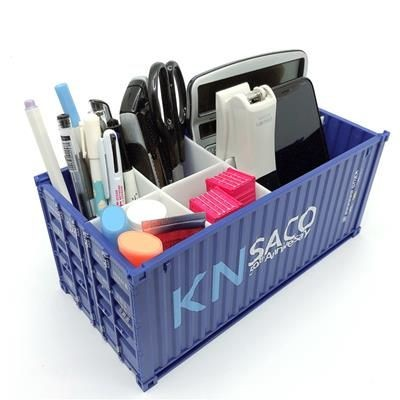 DESK TIDY ORGANIZER in Shale of Shipping Container.