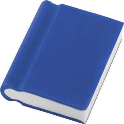 BOOK ERASER in Blue.