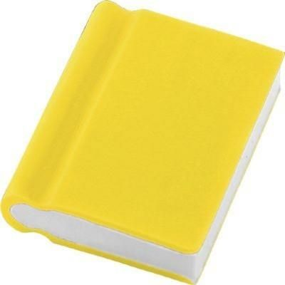 BOOK ERASER in Yellow.