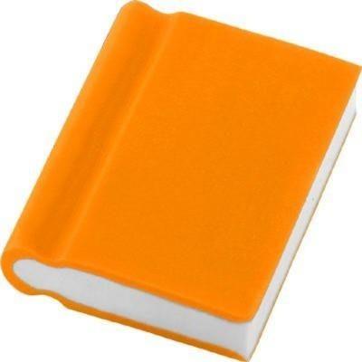 BOOK ERASER in Orange.