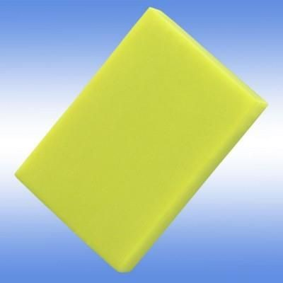 COLOURFUL ERASER in Neon Fluorescent Yellow.