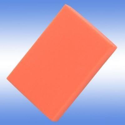 COLOURFUL ERASER in Neon Fluorescent Orange.