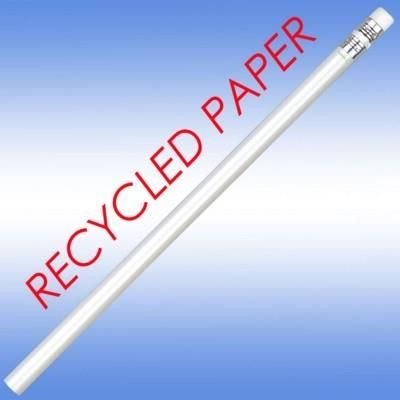RECYCLED PAPER PENCIL in White.