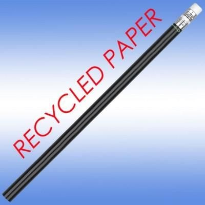 RECYCLED PAPER PENCIL in Black.