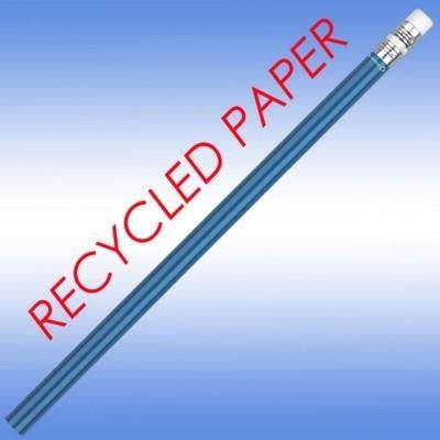 RECYCLED PAPER PENCIL in Blue.