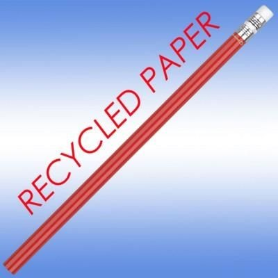 RECYCLED PAPER PENCIL in Red.