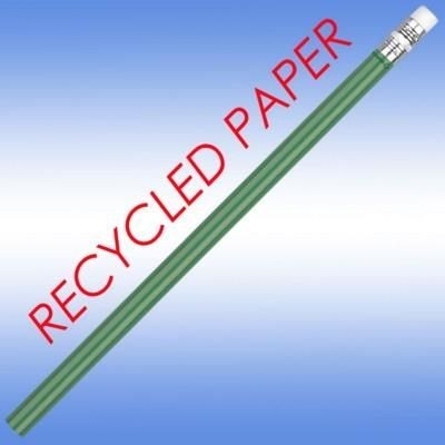 RECYCLED PAPER PENCIL in Green.
