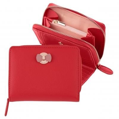CACHAREL MONEY WALLET HORTENSE BRIGHT RED.