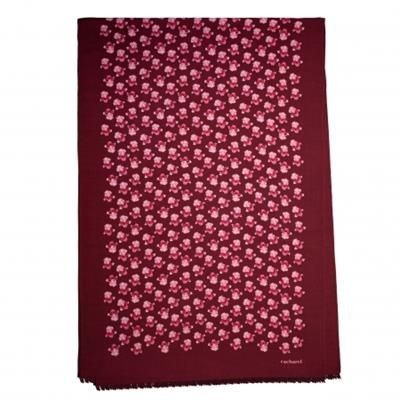 CACHAREL LONG SCARF HORTENSE BRIGHT RED.