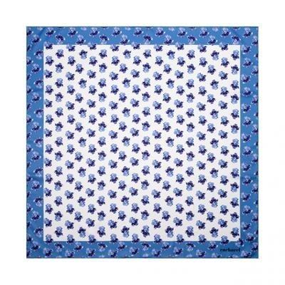 CACHAREL SCARF HORTENSE BRIGHT BLUE.