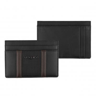 UNGARO CARD HOLDER TADDEO BLACK.