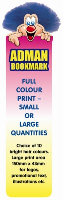BOOKMARK ADMAN BUG CHARACTER with Full Colour Print.