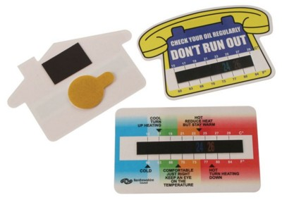ROOM THERMOMETER GAUGE CARDS.