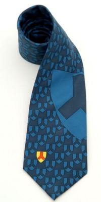 PRINTED POLYESTER TIE with Bespoke Desgin & Executive Finish.