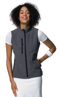 JERZEES LADIES SOFT SHELL GILET.