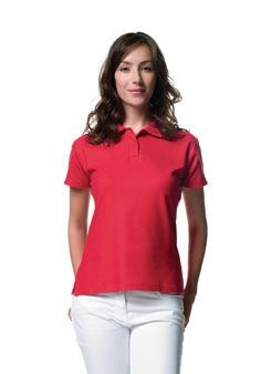 JERZEES LADIES PIQUE POLO SHIRT.