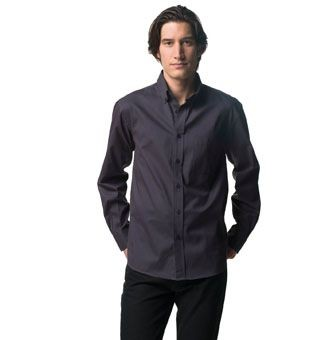 RUSSELL COLLECTION LONG SLEEVE CLASSIC TWILL SHIRT.