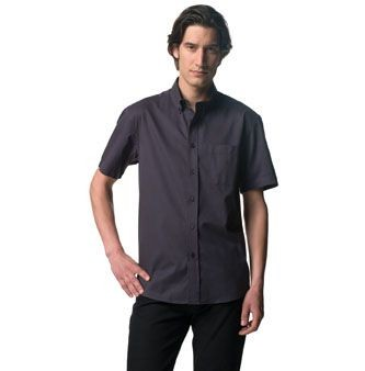 RUSSELL COLLECTION SHORT SLEEVE CLASSIC TWILL SHIRT.
