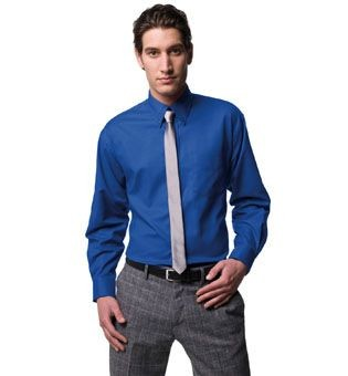 RUSSELL COLLECTION LONG SLEEVE EASY CARE OXFORD SHIRT.