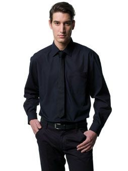 RUSSELL COLLECTION LONG SLEEVE EASY CARE POPLIN SHIRT.