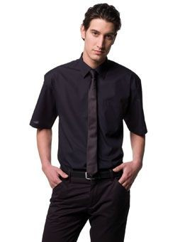 RUSSELL COLLECTION EASY CARE POPLIN SHIRT.