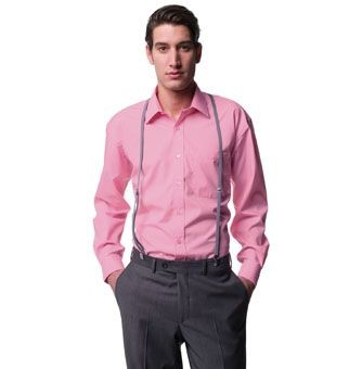 RUSSELL COLLECTION LONG SLEEVE EASY CARE COTTON POPLIN SHIRT.