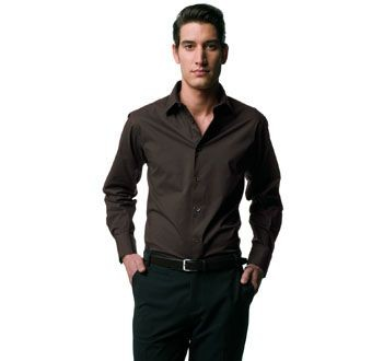 RUSSELL COLLECTION LONG SLEEVE EASY CARE FITTED SHIRT.
