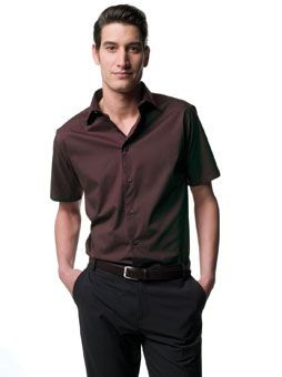 RUSSELL COLLECTION SHORT SLEEVE EASY CARE FITTED SHIRT.