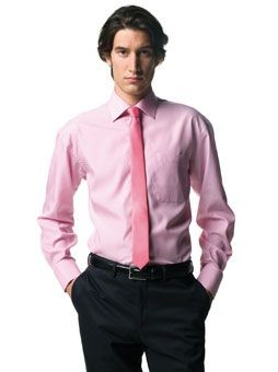 RUSSELL COLLECTION LONG SLEEVE TENCEL CORPORATE SHIRT.
