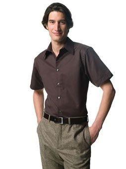 RUSSELL COLLECTION SHORT SLEEVE TENCEL FITTED SHIRT.