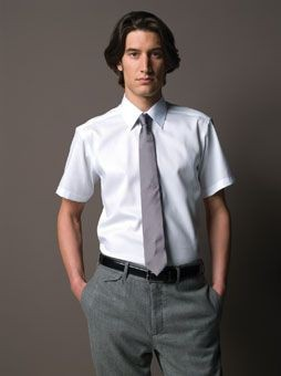RUSSELL COLLECTION SHORT SLEEVE TAILORED ULTIMATE NON-IRON SHIRT.