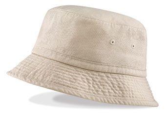 VINTAGE CHINO COTTON BUCKET HAT.