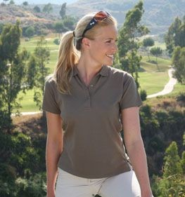 GLENMUIR SOPHIE LADIES PIQUE POLO SHIRT.