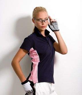 KUSTOM KIT GAMEGEAR LADIES TRACK PIQUE POLO SHIRT.