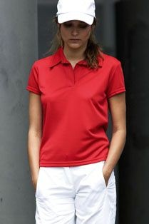 KARIBAN SPORTS LADIES PERFORMANCE POLO SHIRT.