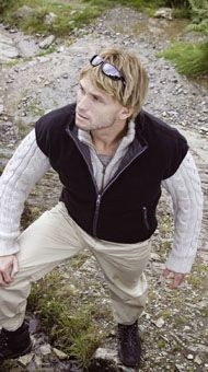 RESULT REVERSIBLE POLAIRE & POLYESTER BODYWARMER.